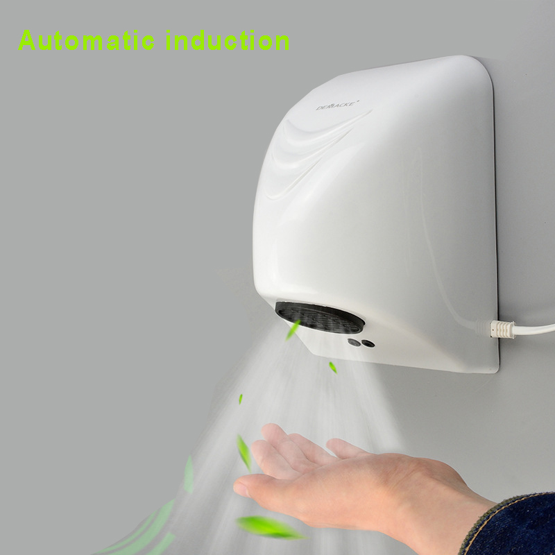 Hotel Automatic Hand Dryer Automatic Hand Dryer Sensor Household Hand-drying Device Bathroom Hot Air Electric Heater Wind 1000W