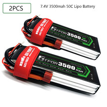 GTFDR 3500mAh 7.4V 50C-100C Lipo battery 2S XT60/DEANS/XT90/EC5 For AKKU Drone FPV Truck four axi Helicopter RC Car Airplane(China)