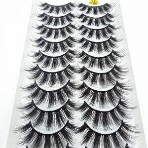 QUXINHAO 10 Pairs 3D Eyelashes