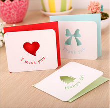 Hollow out Creative Greeting card Wedding invitations Cute Postcard Christmas Birthday Party Invite Cards Table Decoration(China)