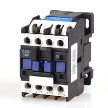 1PCS CJX2-1201 12A 3P+NC Magnetic Ac Electric 3 Pole Contactor For Unit 3 Phase 380V 220V 110V 36V 24V Normally Closed Contactor