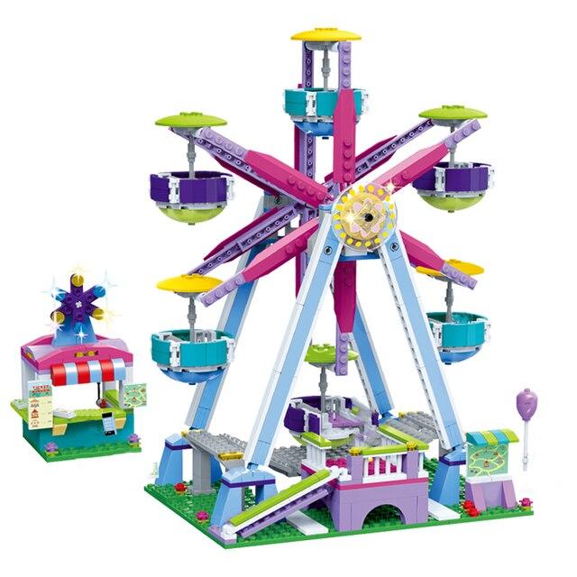 Compatible amigos árbol carrera coche autobús ladrillo juguete Niño para niña princesa Príncipe ciudad boda establece Parque de Atracciones romántico