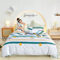 Youthful Style Pineapple Bee Flower Home Textile Duvet Cover Bed Sheet Pillow Case Single Double Queen King For Home Bedding Set