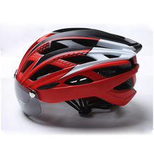 Bike Helmet Bicycle Men Women Cycling Safety Caps Goggle Ultralight MTB Road Mountain Windproof Helmets Breathable