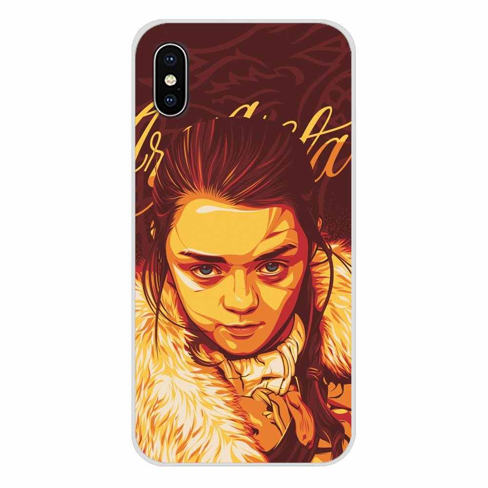 Untuk Huawei Kehormatan 5X6X7 7A 7C 8 9 10 8C 8X20 30 Lite pro Aksesoris Ponsel Shell Mencakup Game Of Thrones Arya Stark