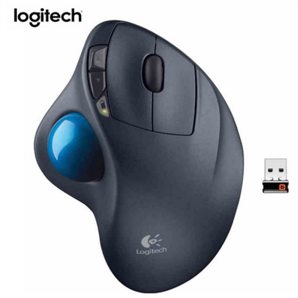 Logitech Ergonomic-Mouse Computer-Accessories Usb-Receiver Wireless Trackball Windows-xp/7/8/10 title=