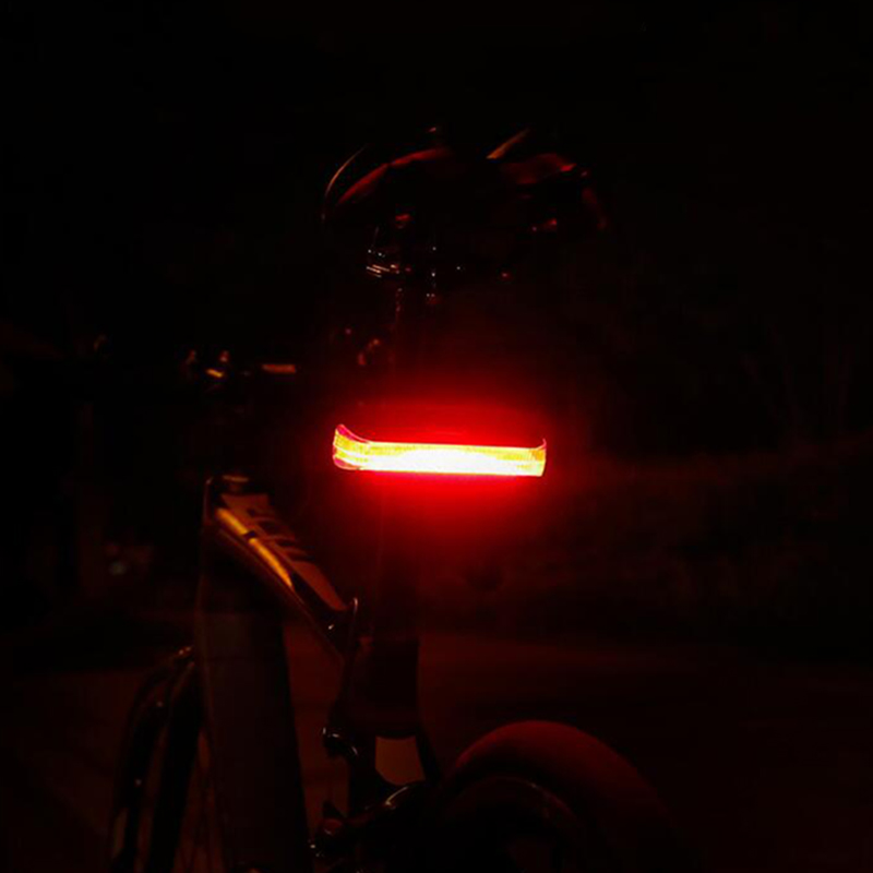 5 LED USB aufladbare Fahrradrücklicht Sicherheit Radfahren Warnung Rücklicht