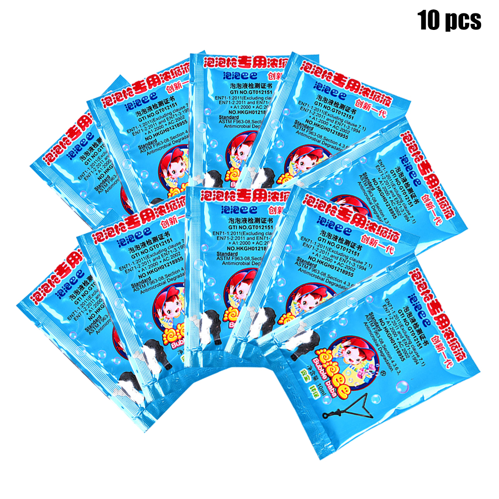 10pack For Kids Concentrate Bubbles Liquid Baby Non Toxic Educational Toy Funny Soap Water Party Indoor Outdoor Gift Beach
