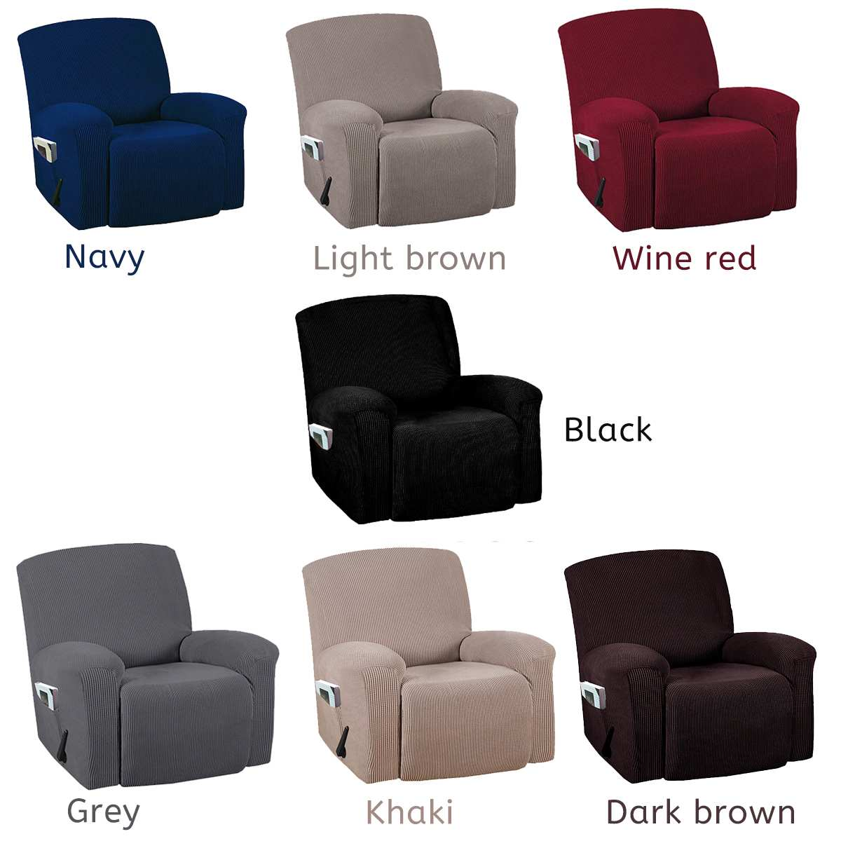 Recliner Couch Cover All-inclusive Sofa Cover Elasticity Stretch Anti-slip Furniture Slipcovers Chair Protector Single Seat Sofa