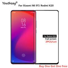 2PCS For Xiaomi Mi 9T Glass Full Glue Coverage Screen Protector Protective Film for Redmi K20