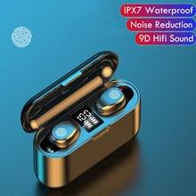 Новинка f9 bluetooth v50 наушники беспроводные с микрофоном
