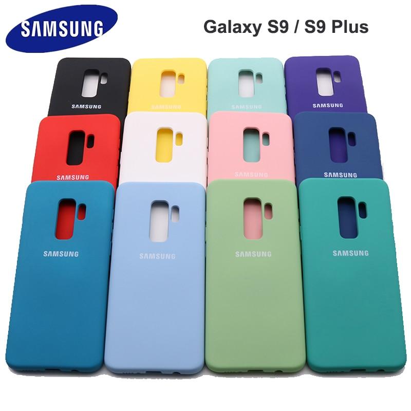 Samsung galaxy s9 mais alta qualidade caso de silicone líquido sedoso macio-toque capa traseira para galaxy s 9/s9 plus/s9 + escudo do telefone