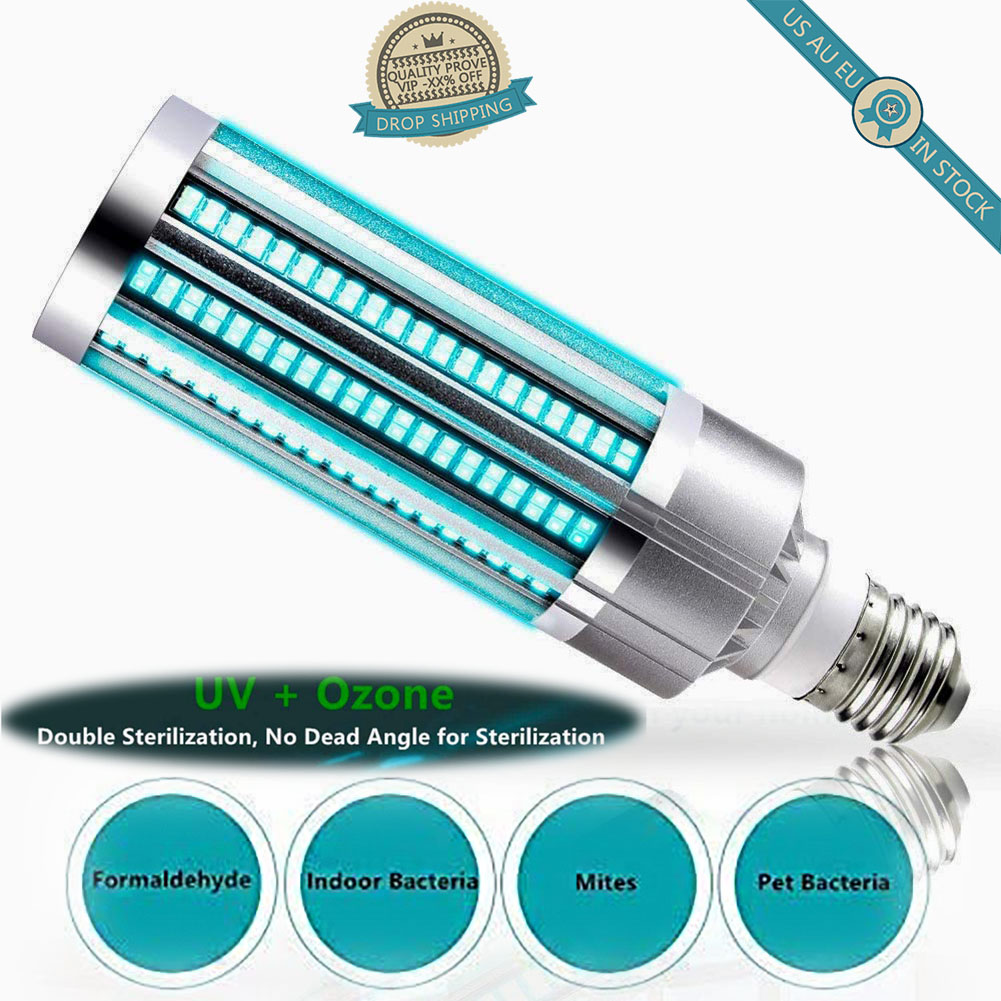Household UV Germicidal Ultraviolet Lamps Lights LED UVC Bulbs E26/E27 Home Professional Light Disinfection Lighting Bulbs Tubes
