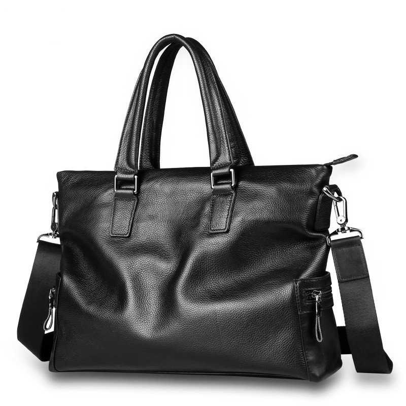 Famous Brand Genuine Leather Men Briefcase Business Leather Male Briefcase Male Casual Shoulder Messenger Bag Tote Bags