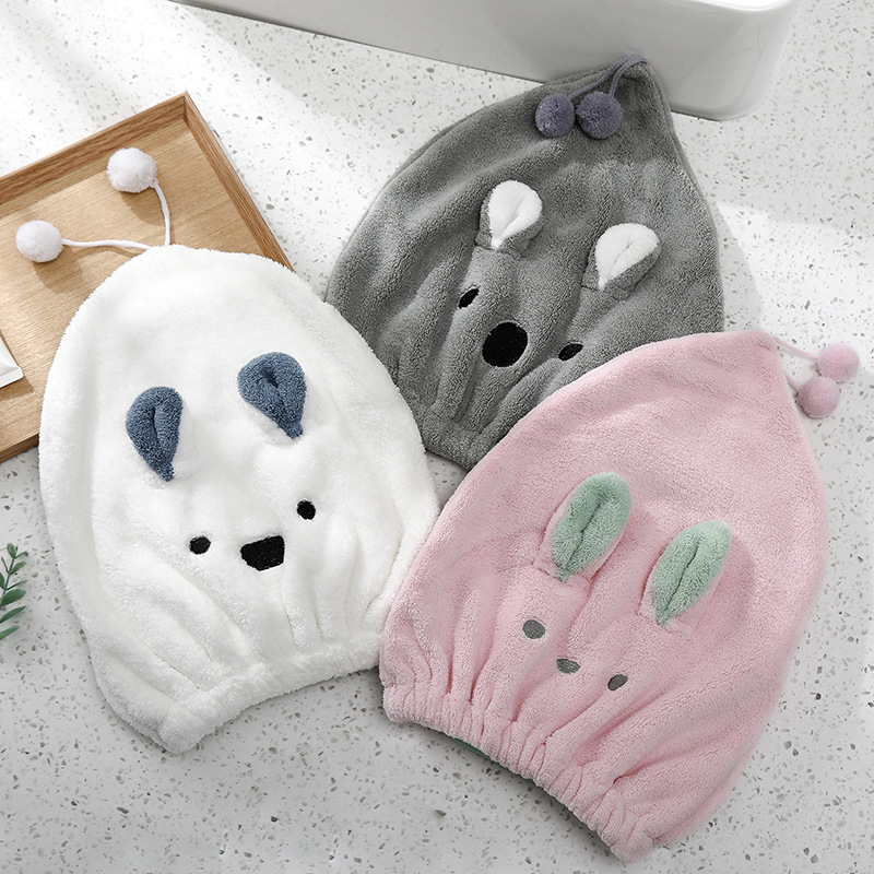 Microfiber Solid Quickly Dry Hair Hat Cute Rabbit Towel Women Shower Towels Home Textile Towel Bath Wearable Towel
