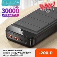KUULAA Power Bank 30000mAh QC PD 3.0 PoverBank Fast Charging PowerBank 30000 mAh USB External Battery Charger For Xiaomi Mi 10 9