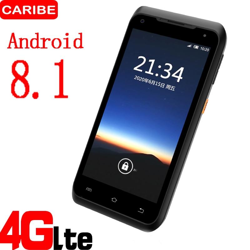 varredor handheld portatil do terminal 1d barcod de caribe 5 5 polegadas com leitor do rfid