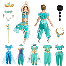 Aladdin Jasmine Princess Dress UP Girl Arabian Fancy Costume for Kids Baby Halloween Cosplay Party Clothing Birthday Gift kids birthday halloween party gift new child boy deluxe star wars the force awakens storm troopers cosplay fancy dress kids hall