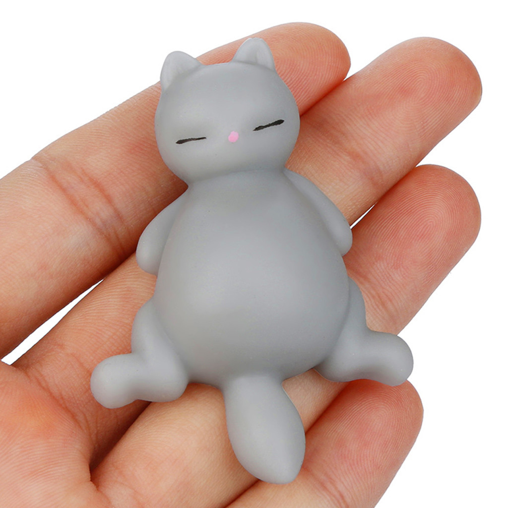 Squeeze Toy Reliever-Toys Gifts Mochi Stress Fun Squishyies Healing Lazy-Cat