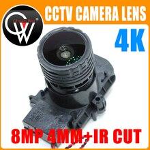 "F0.95 M16 Focal 4K HD 4mm lente 8MP 1/2.7 ""ir cut + lente para IMX327 , IMX307 , IMX290 , IMX291 Módulo de placa de cámara"