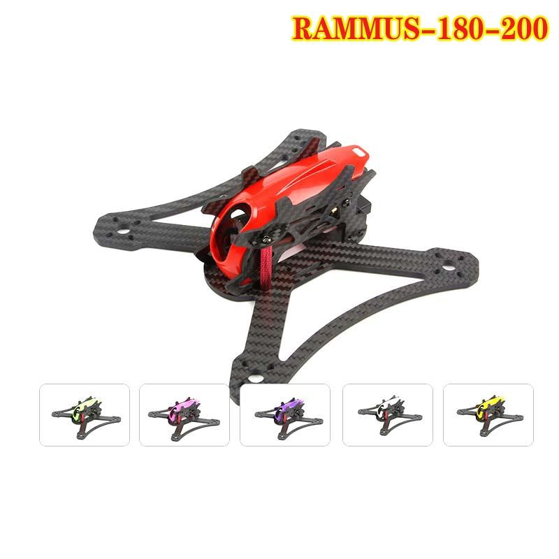 FPV Racing KingKong RAMMUS 200 de marco de 180mm w/6 colores Kit de marco de la cubierta 4 par 5045 3-hélice de hoja para cuadricóptero RC
