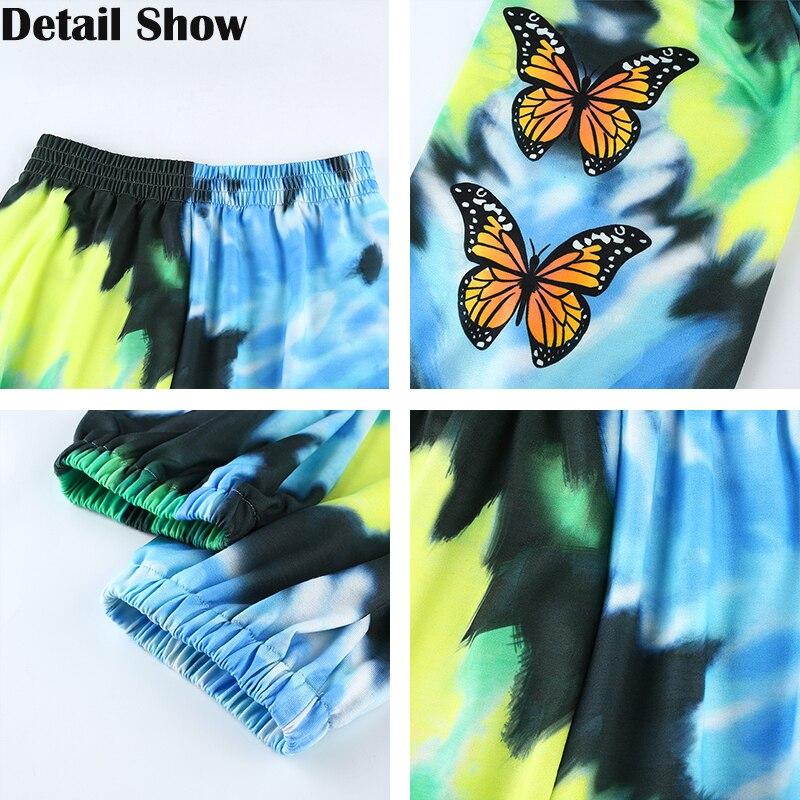 Hot DealsRapwriter Print-Pants Joggers-Trousers Streetwear-Tie-Dye Harajuku Butterfly Summer Women