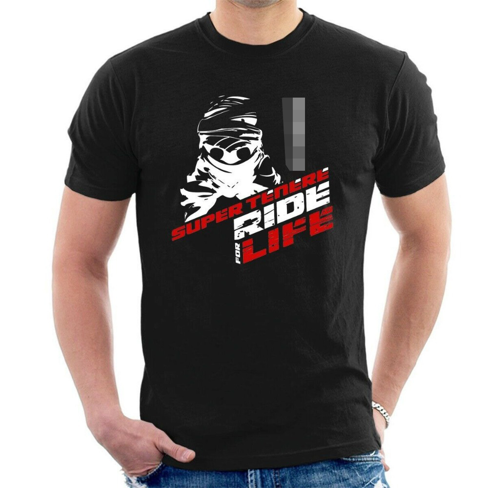 Yam Super Tenere T-Shirt Inspired Ride for Life Motorcycles Sizes 2019 Summer Casual Funny Cotton Short Sleeve Novelty T-Shirt