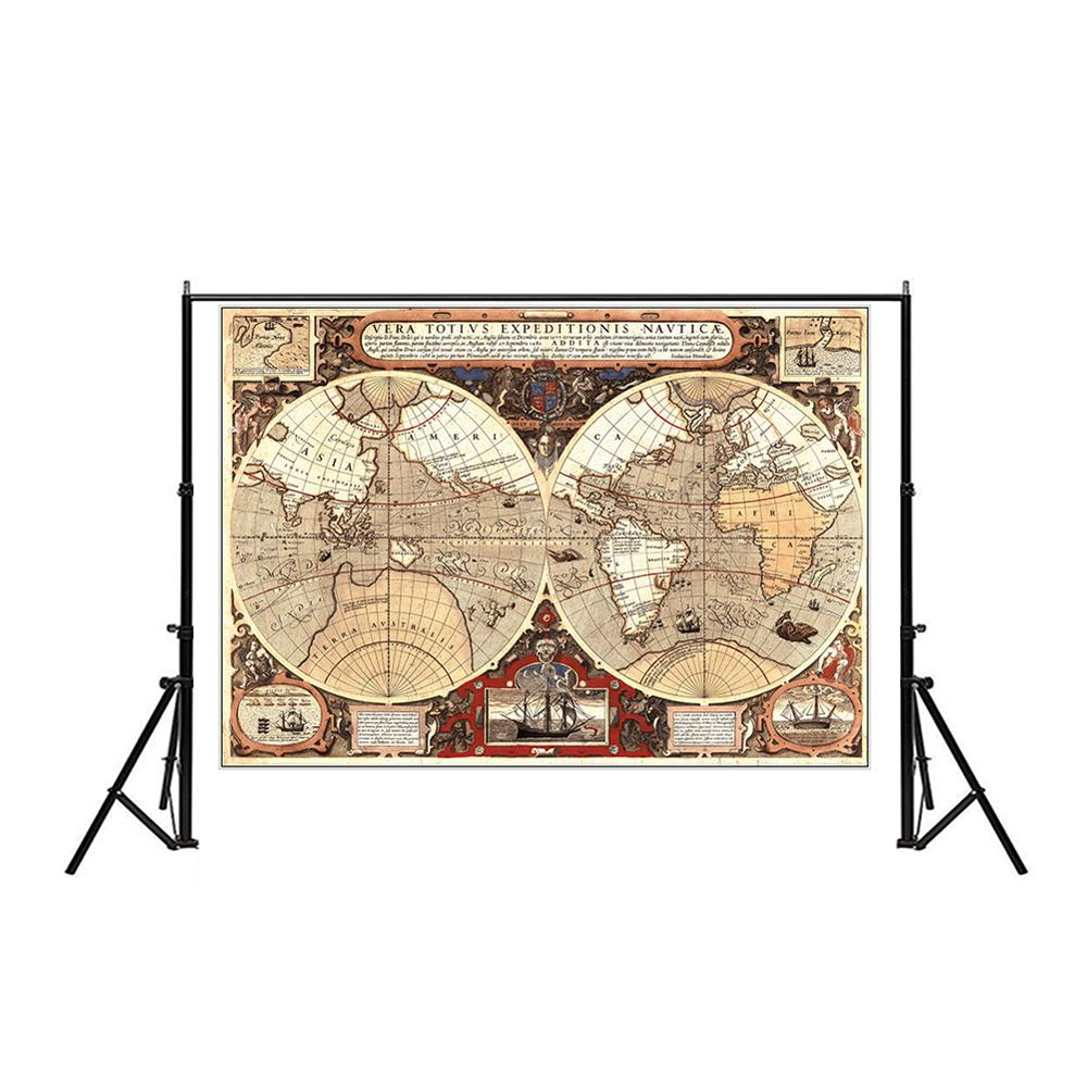 Poster Vintage Decoration Student School Stylistic Teaching Geography Atlas Science Fiction Movie Treasure Non-woven Map