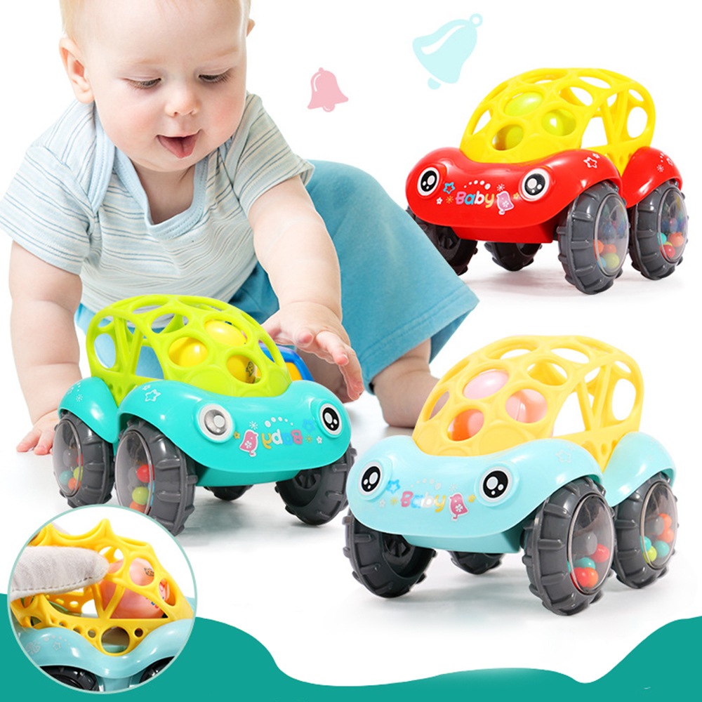 Baby Rattles Mobiles Non-toxic Plastic Colorful Music Handbell Grasping Gums Soft Teether Educational Toys For Newborn Baby Gift
