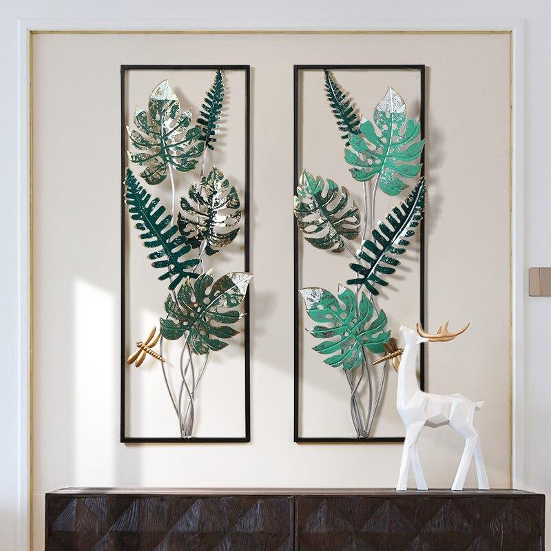 Скандинавский ветер Тропическое растение для украшения стен креативная гостиная спальня Подвесной Настенный декоративный фон настенные д... - 2