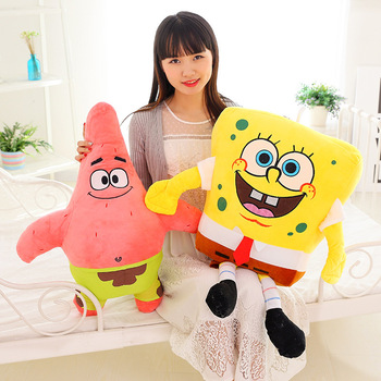 Cute Baby Toy Spongebob Patrick Star Plush Toys Cartoon Soft Animal Pillow Anime Doll Children Kids Birthday Gift 40 100cm giant cute baby toy spongebob patrick star plush toys cartoon soft animal pillow anime doll children kids birthday gift