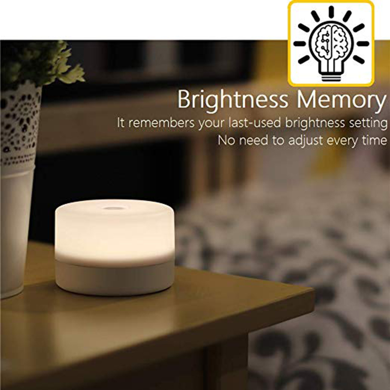EASY-Bedside Lamp Dimmable Press Light, Children'S Adult Led Night Light, Table Decoration Mood Light, Bedroom Living Room Baby