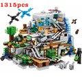 1315 шт горный пещера, маленькие размеры, строительные блоки с фигурки Совместимость мой мир село цифры набор блоков, игрушки