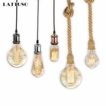Retro Lamp E27 220V Vintage Edison Bulb 40W Ampoule Light Incandescent Filament