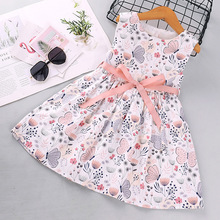 w l monsoon brand children s clothing girls dress europe and america floral children pleated princess dress cotton girl dress New pattern Girl Princess Dress New Summer Kid Girls Dress Floral Sweet Children Party Suits Butterfly Costume Children Clothing