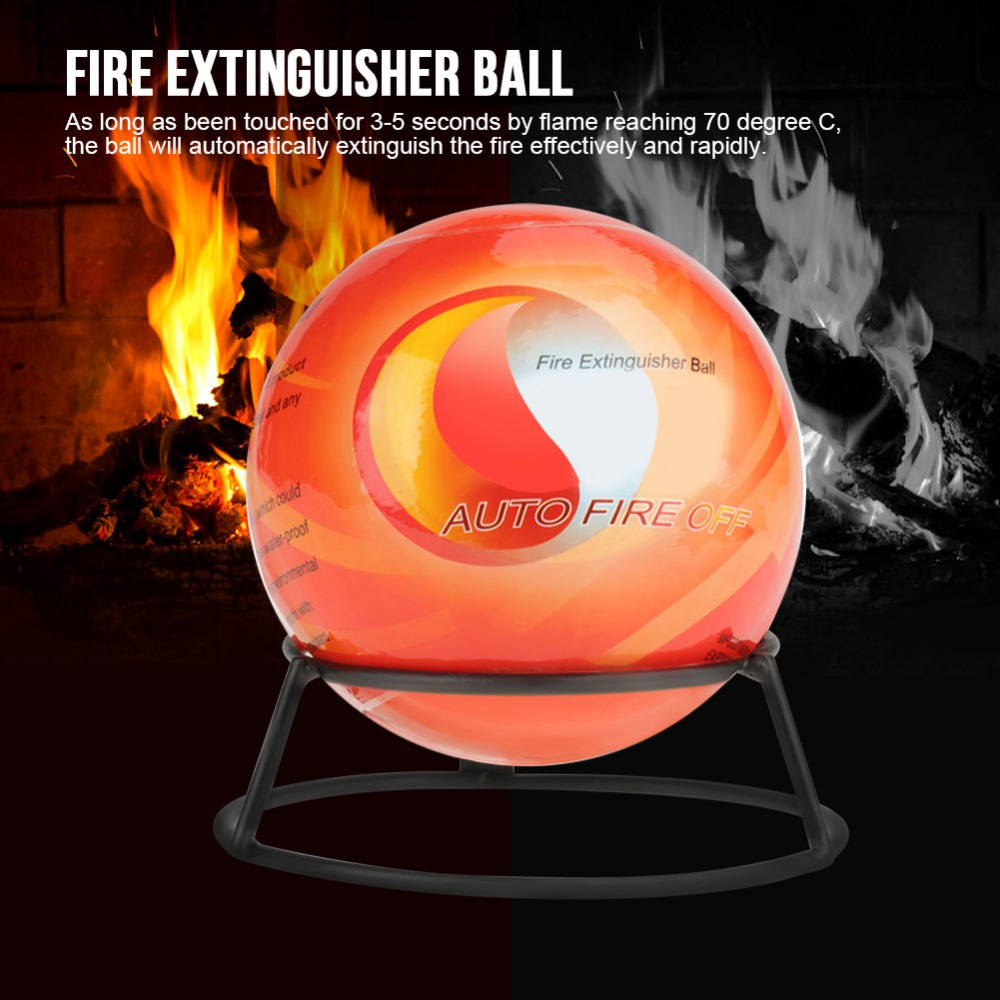 4.13inch Fire Extinguisher Ball Easy Throw Stop Fire Loss Tool Safety (0.5KG)