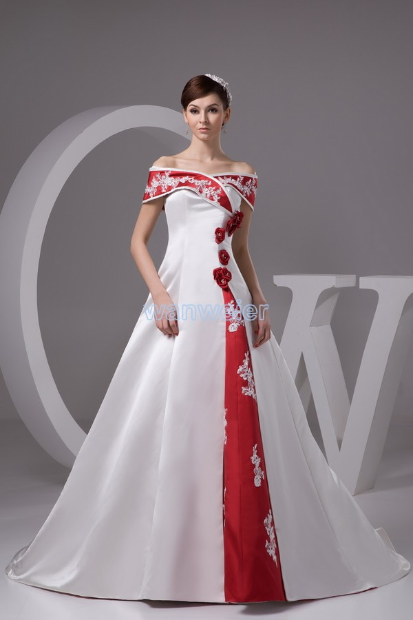 2016 Natural Floor-length New Hot Vestido De Festa Longo Customize Size/color Bridal Gown Hand Made Rose Train Elegant Up Dress
