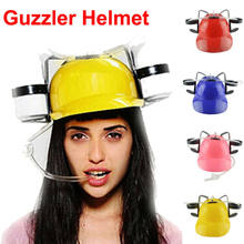 New Women Men Beer Soda Drinks Guzzler Helmet Drinking Hat Caps Black Party Game Hat For Adult(China)