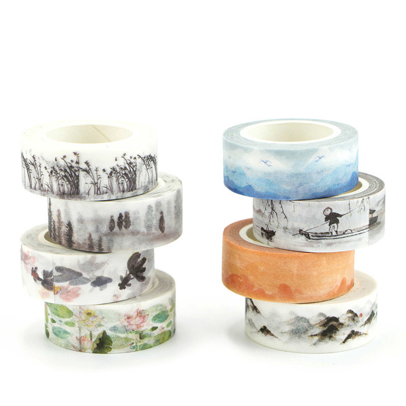 Vintage Washi Tape Chinese Style Masking Tape DIY Stickers Scrapbooking Bullet Journal Decoration Stickers School Staionery