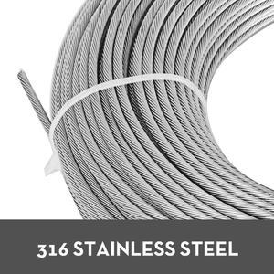 Image 3 - VEVOR 304 кабель из нержавеющей стали 0,18 дюймов 7X19 стальная проволочная веревка 100 футов стальной кабель для перил настил DIY балюстрада