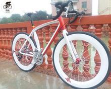 24 prędkości 700C rower szosowy 2020 nowa jazda na rowerze rower szosowy bicicleta mężczyzna i kobieta rower hamulce tarczowe tanie tanio kalosse Unisex Ze stopu aluminium ze stopu aluminium 150-200 cm 14 kg Podwójne hamulce tarczowe 0 1 m3 Koralik pedału