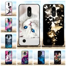 For LG K4 2017 Case Ultra-thin Soft TPU Silicone M160 Cover Scenery Patterned Phoenix 3 Fortune Bumper Coque