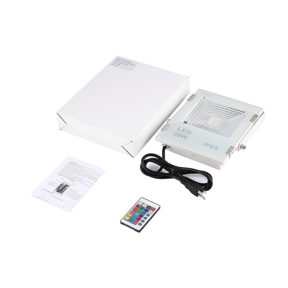 ICOCO 야외 RGB LED 투광 조명 원격 제어 16 색 4 모드 전환 가능한 방수 가든 브릿지 빌보드