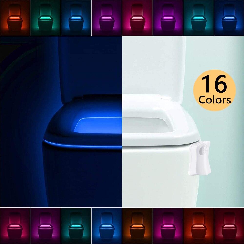 Сиденье для унитаза светодиодный Ночной светильник 16 Цвет движения PIR Сенсор Водонепроницаемый Подсветка светильник для унитаза Luminaria ламп...