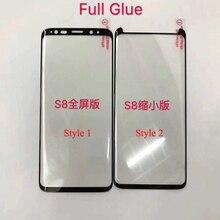 10 sztuk pełny klej folia na wyświetlacz do Samsung S8 Plus 3D zakrzywione pełny klej folia ze szkła hartowanego do S9 Plus uwaga 8 9 10 S10