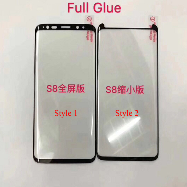 10pcs Full Glue Screen Protector for Samsung S8 Plus 3D Curved Full Adhesive Tempered Glass Film for S9 Plus Note 8 9 10 S10