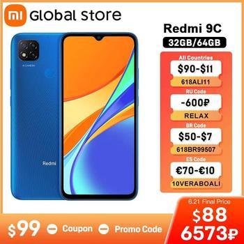 "Global Version Xiaomi Redmi 9C Mobile Phone 9C  32GB /64GB  MediaTek Helio G35 6.53"" 5000mAh 13MP Camera Smartphone"
