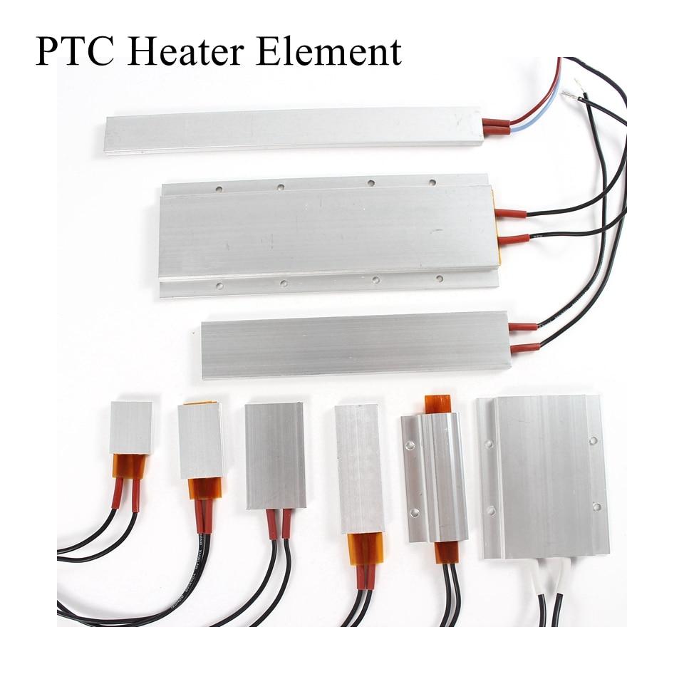 12V 24V 36V 48V 110V 220V PTC Heater Element Constant Thermostat Thermistor Air Electric Heating Sensor Incubator Aluminum Shell