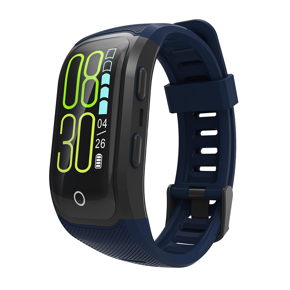 S908S Color Screen Smart Bracelet GPS Positioning Track Outdoor Variety Sports Mode IP68 Class Profession Waterproof Heart Rate|Smart Wristbands| |  - title=