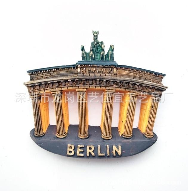 3D Resin Fridge Magnets Italy Berlin France Paris London Switerland Tourism Souvenir Magnetic Refrigerator Stickers Home Decor 2